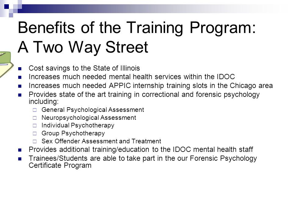 Benefits of the Training Program: A Two Way Street