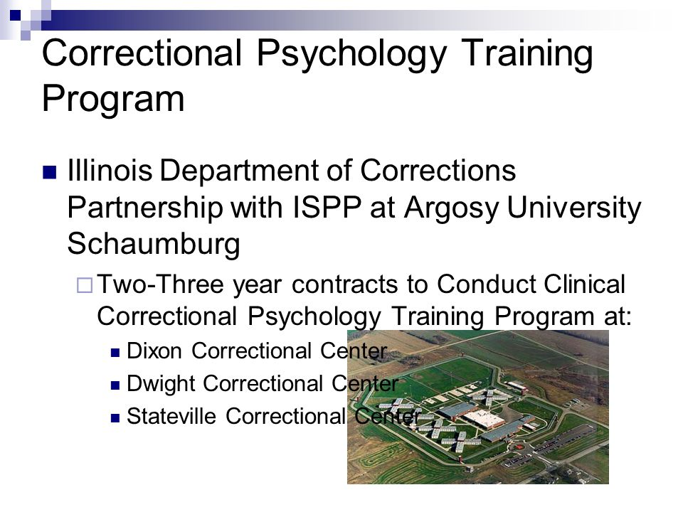 Correctional Psychology Training Program