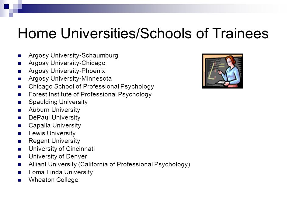 Home Universities/Schools of Trainees