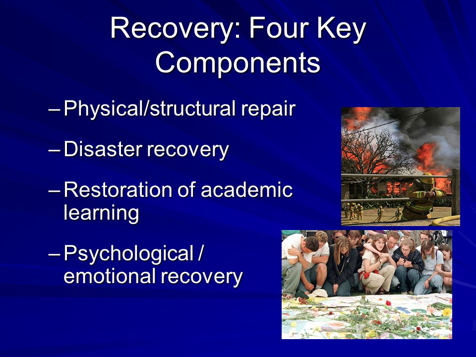 Recovery: Four Key Components
