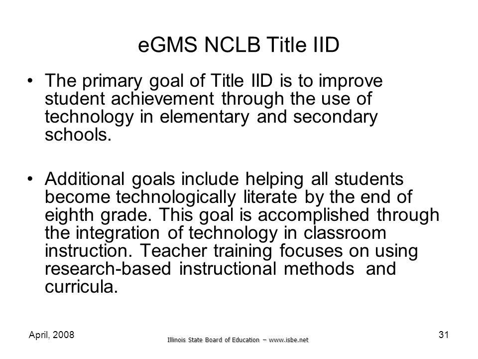 eGMS NCLB Title IID