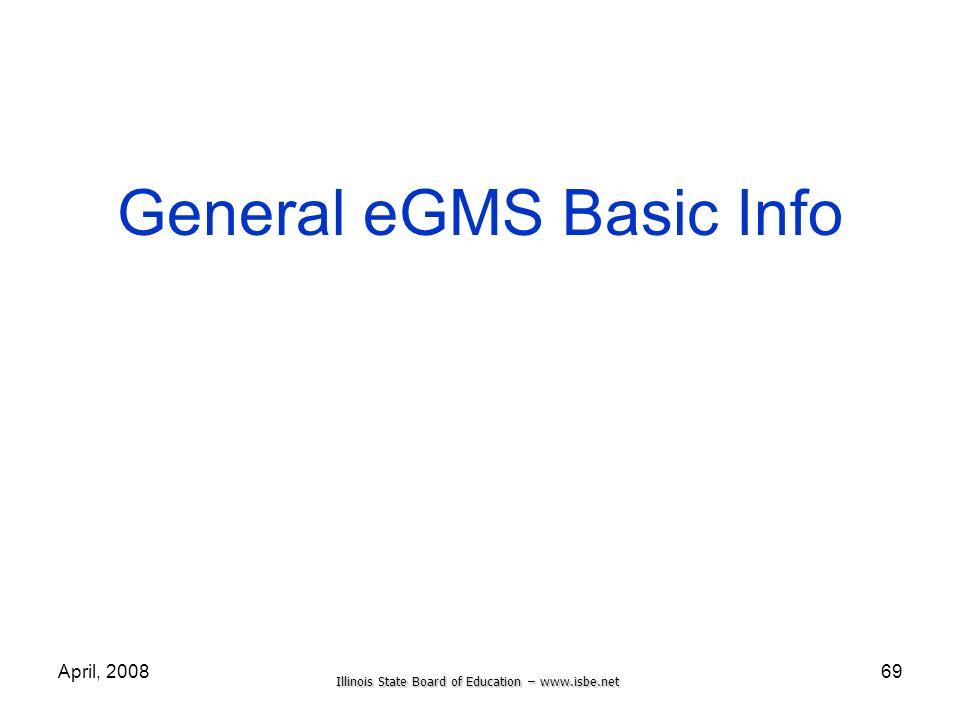 General eGMS Basic Info