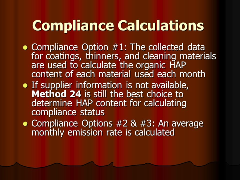 Compliance Calculations