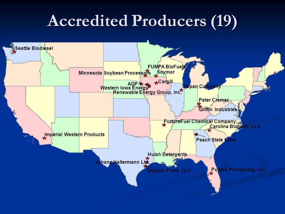 Accredited Producers (19)