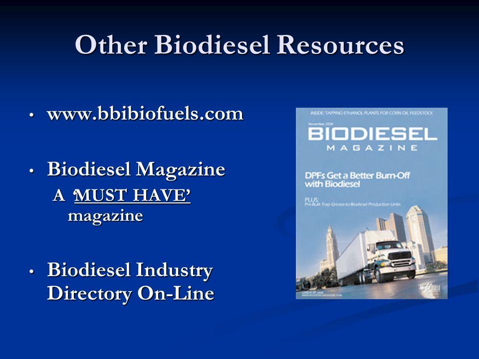 Other Biodiesel Resources