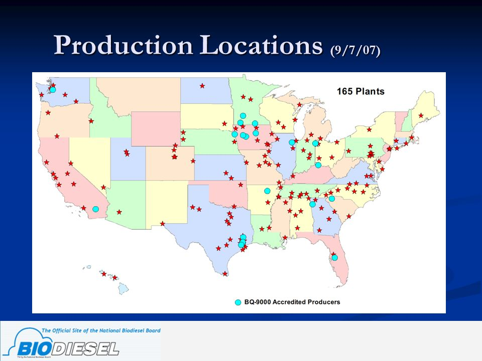 Production Locations (9/7/07)