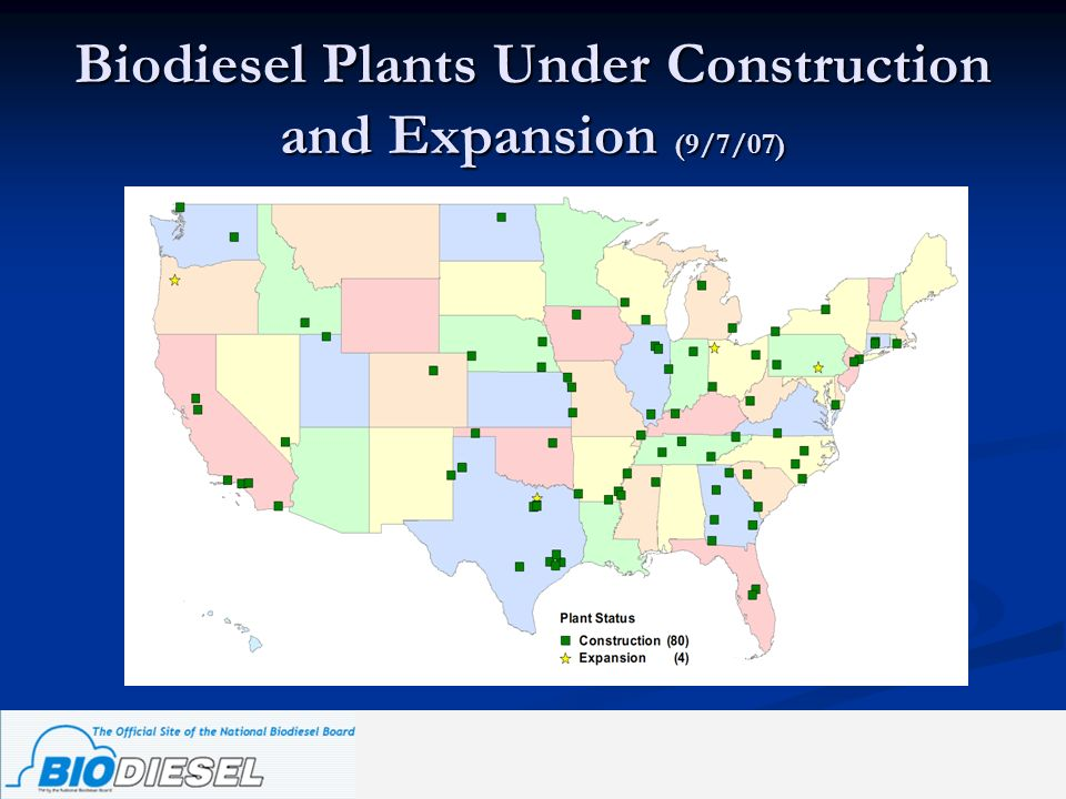 Biodiesel Plants Under Construction and Expansion (9/7/07)