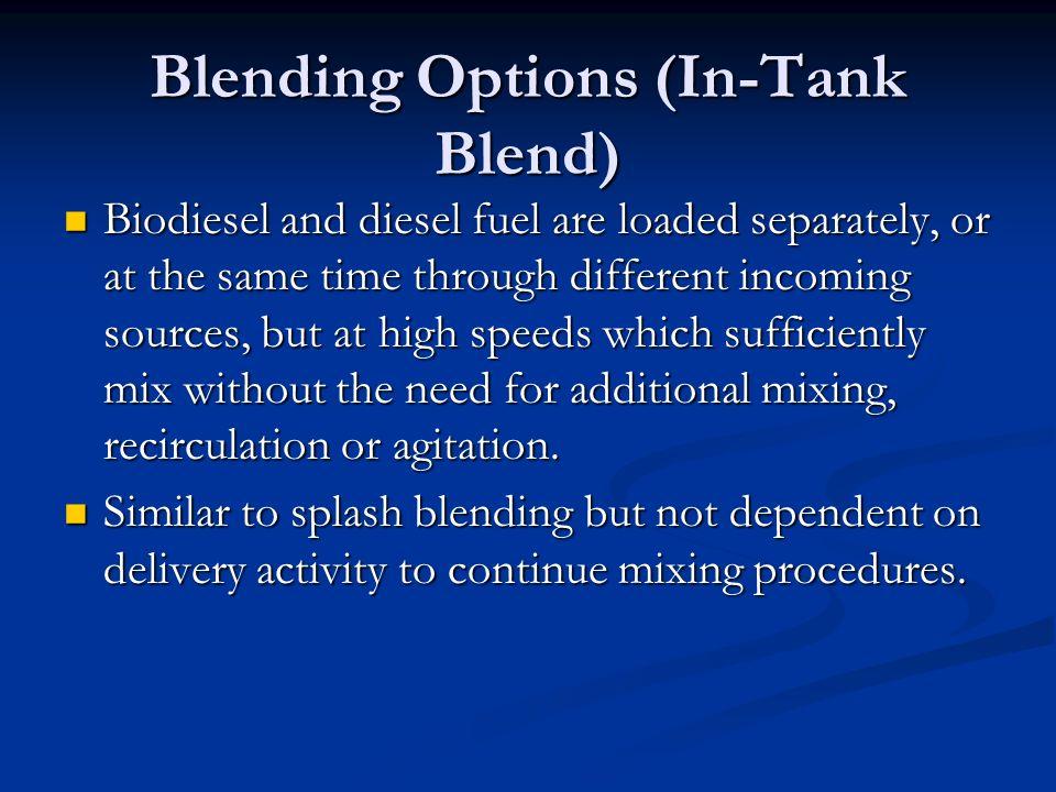 Blending Options (In-Tank Blend)