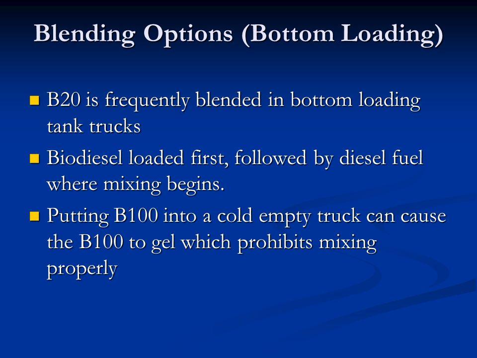 Blending Options (Bottom Loading)