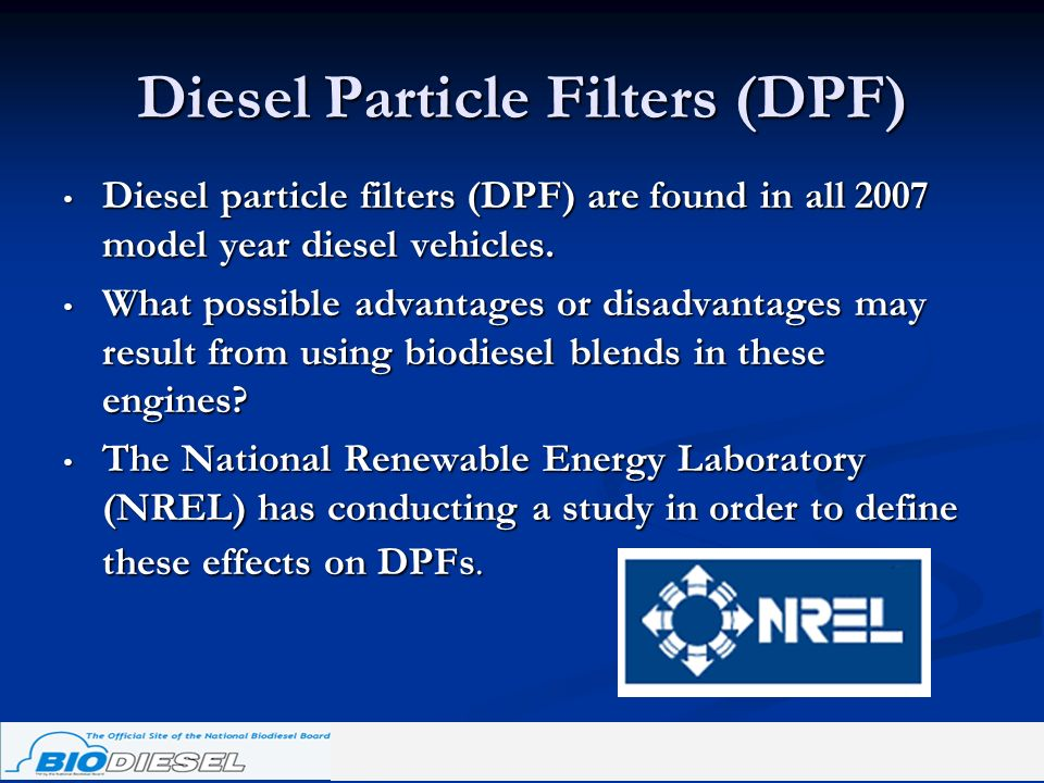 Diesel Particle Filters (DPF)