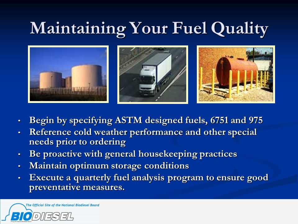 Maintaining Your Fuel Quality