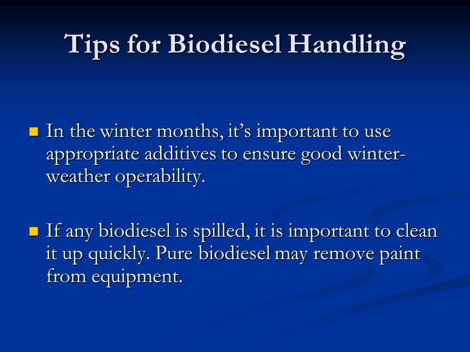Tips for Biodiesel Handling