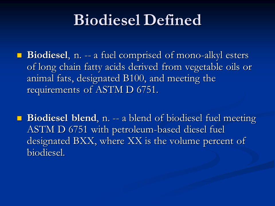 Biodiesel Defined