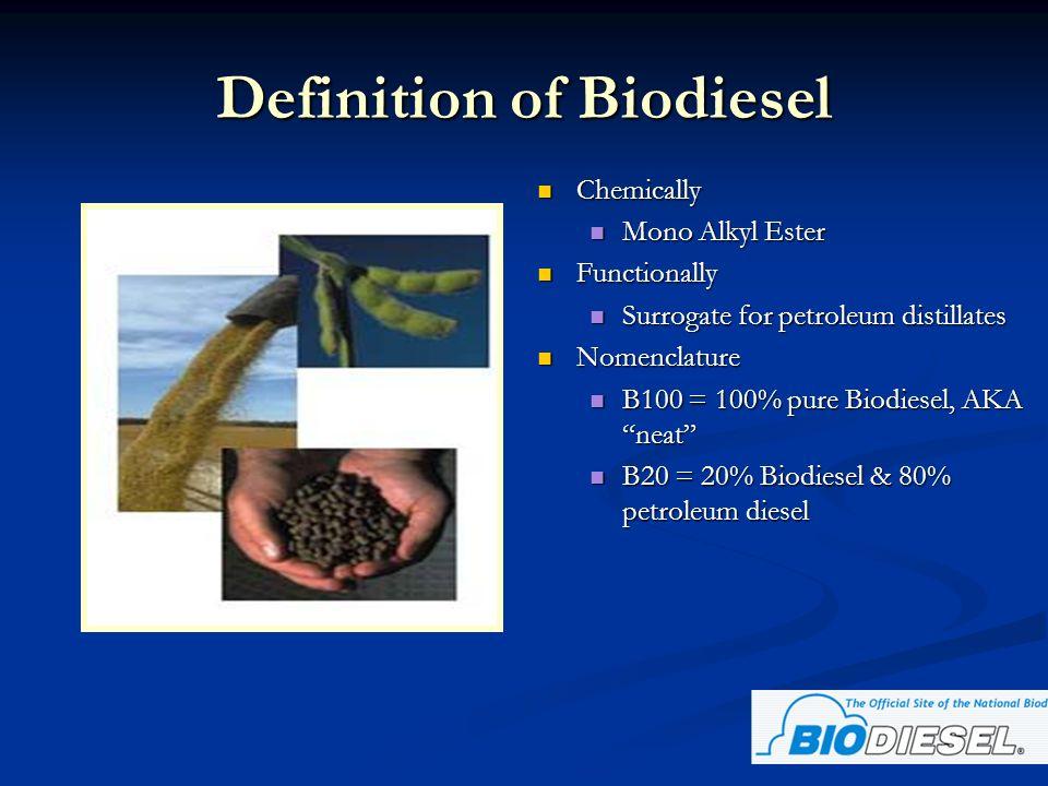 Definition of Biodiesel