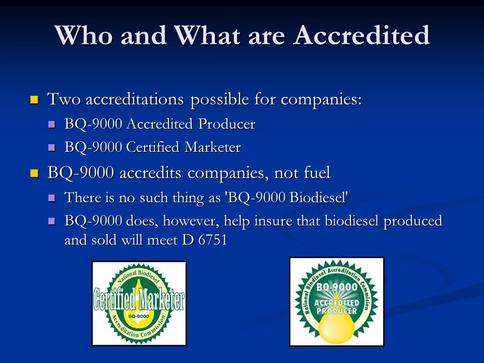 Who and What are Accredited