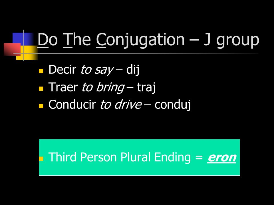 Do The Conjugation – J group