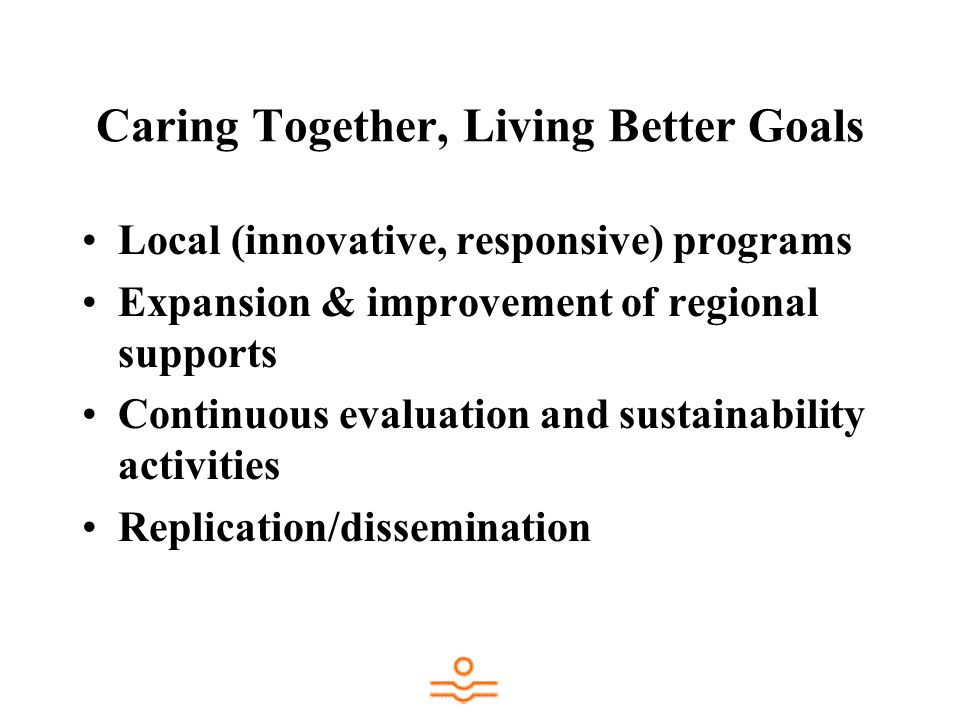 Caring Together, Living Better Goals