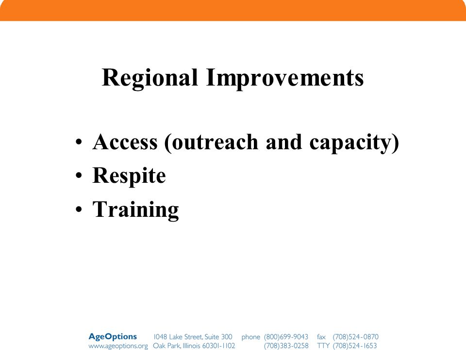 Regional Improvements