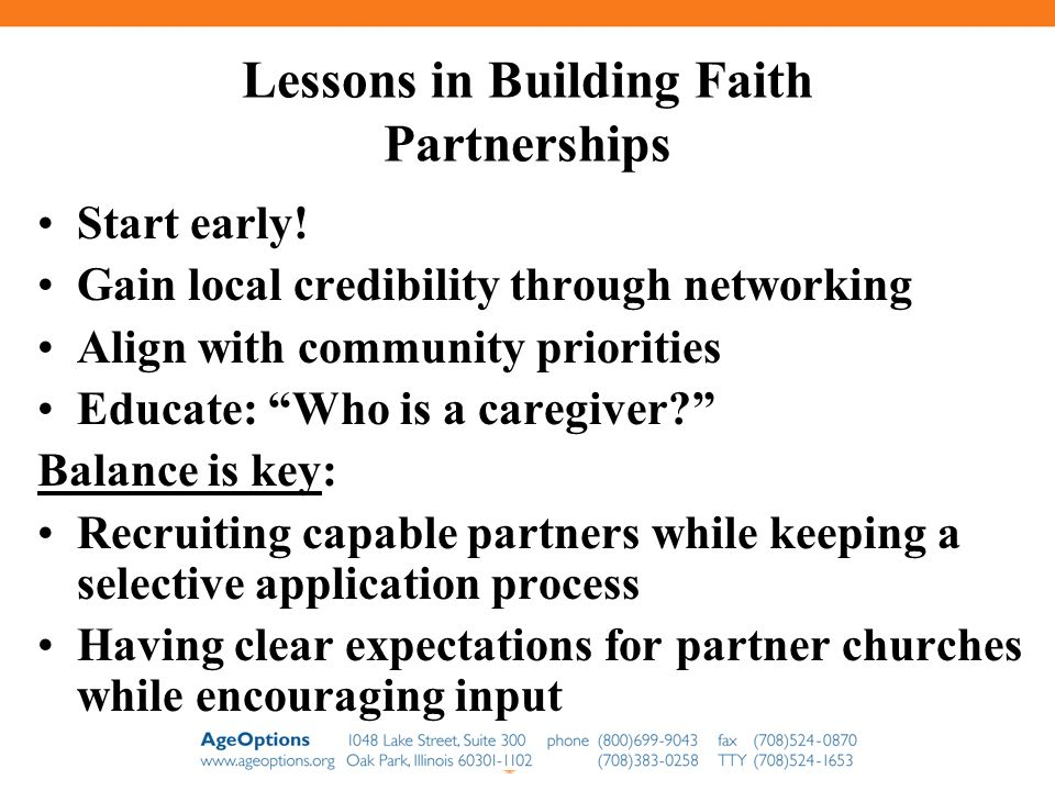 Lessons in Building Faith Partnerships