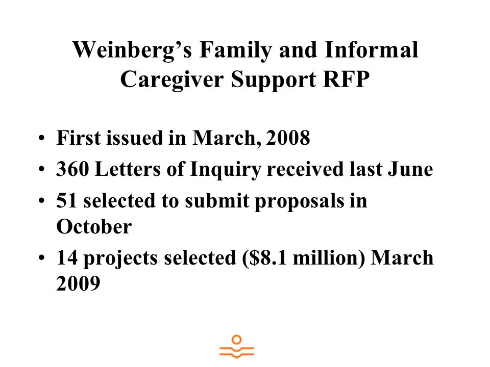 Weinberg's Family and Informal Caregiver Support RFP