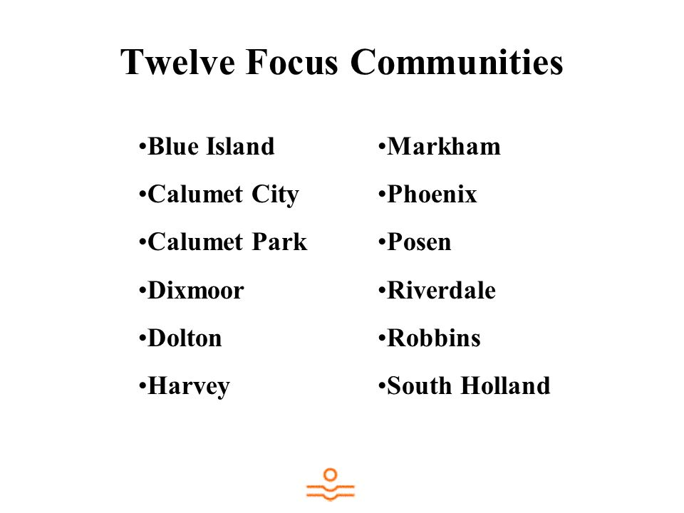 Twelve Focus Communities