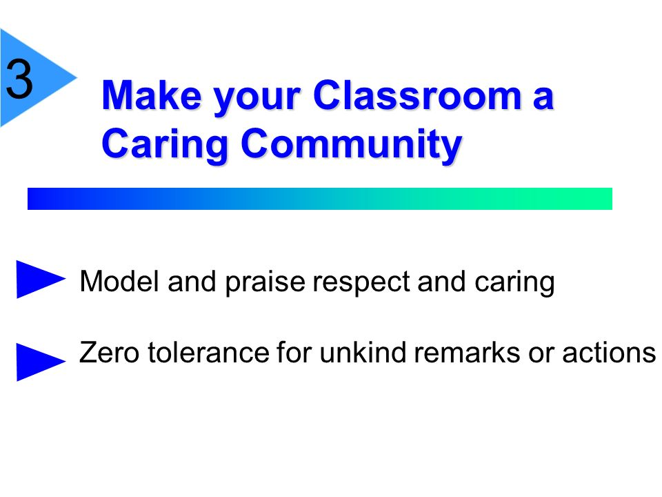 3 Make your Classroom a Caring Community