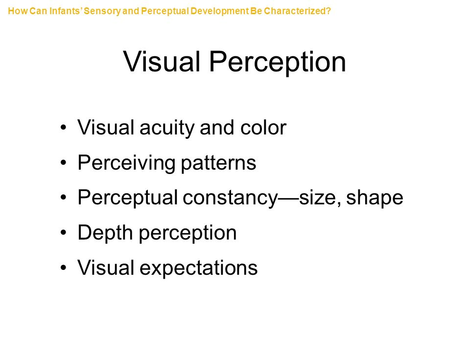 visual perception lab size constancy Furthermore, size-constancy changes to a visual angle performance (ie, object  size changed with distance  electronic visualization laboratory, department of  computer science, university  role in the perception of object size in the cave.