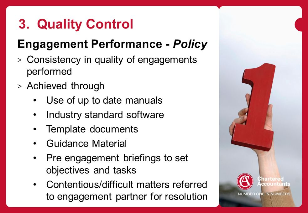 quality control policy template - chartered accountants audit conference ppt download