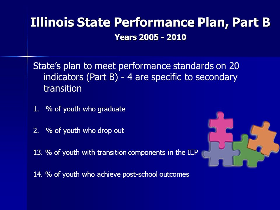 Illinois State Performance Plan, Part B Years 2005 - 2010