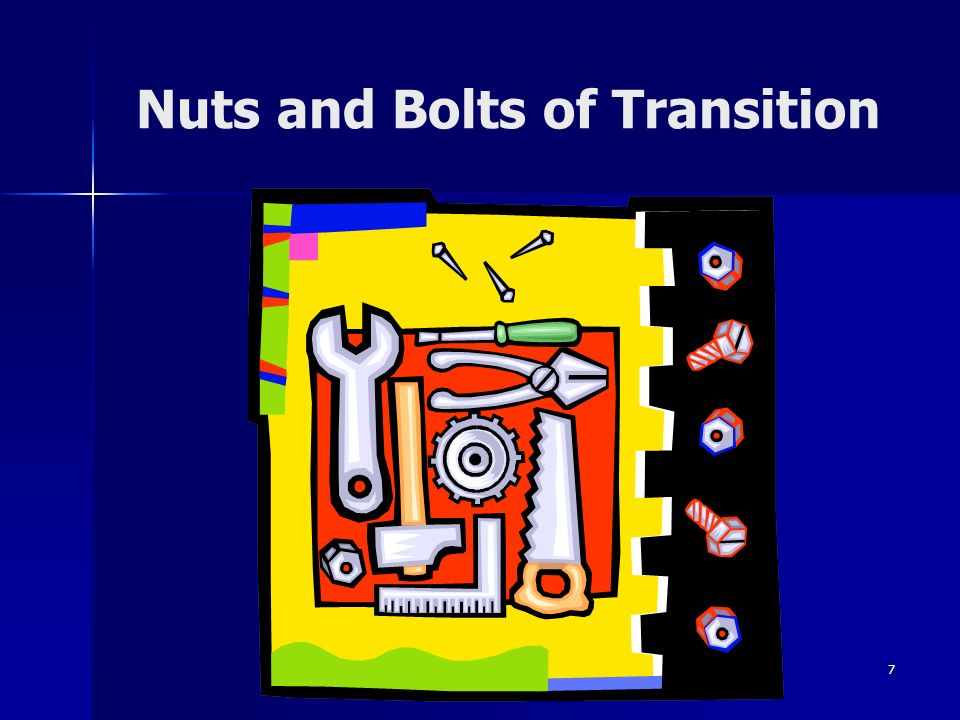 Nuts and Bolts of Transition