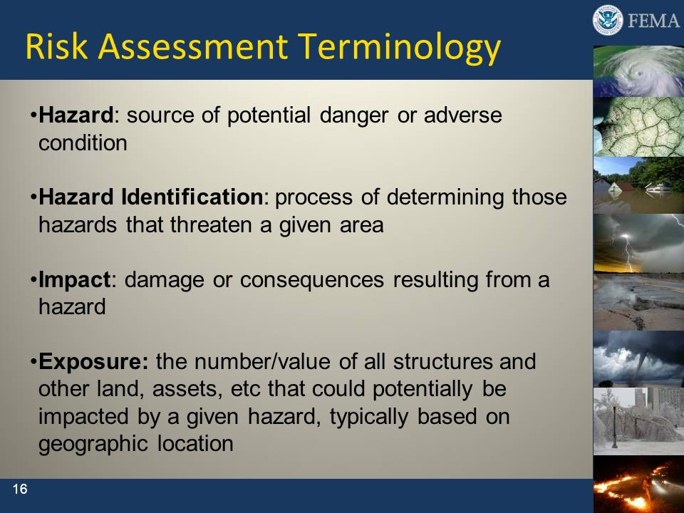 Risk Assessment Terminology