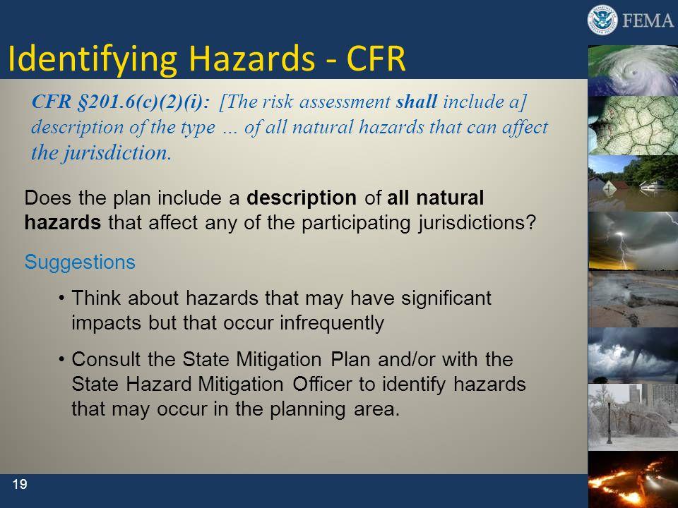 Identifying Hazards - CFR