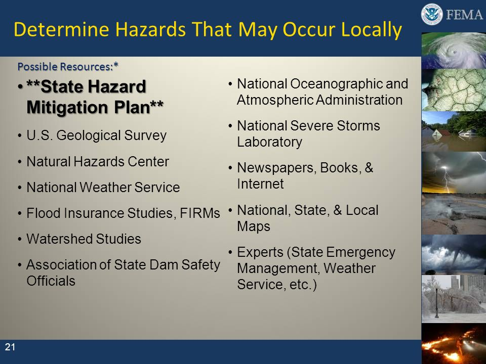 Determine Hazards That May Occur Locally