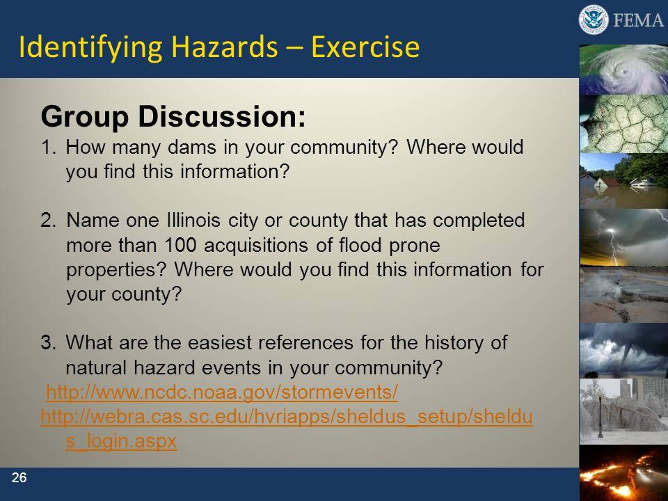 Identifying Hazards – Exercise
