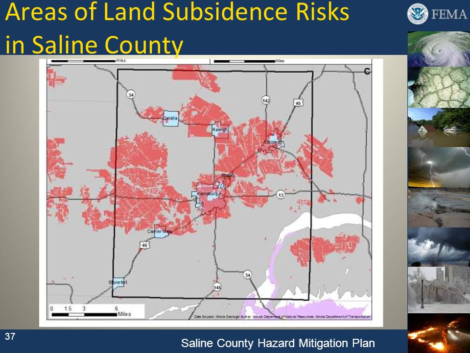 Areas of Land Subsidence Risks in Saline County