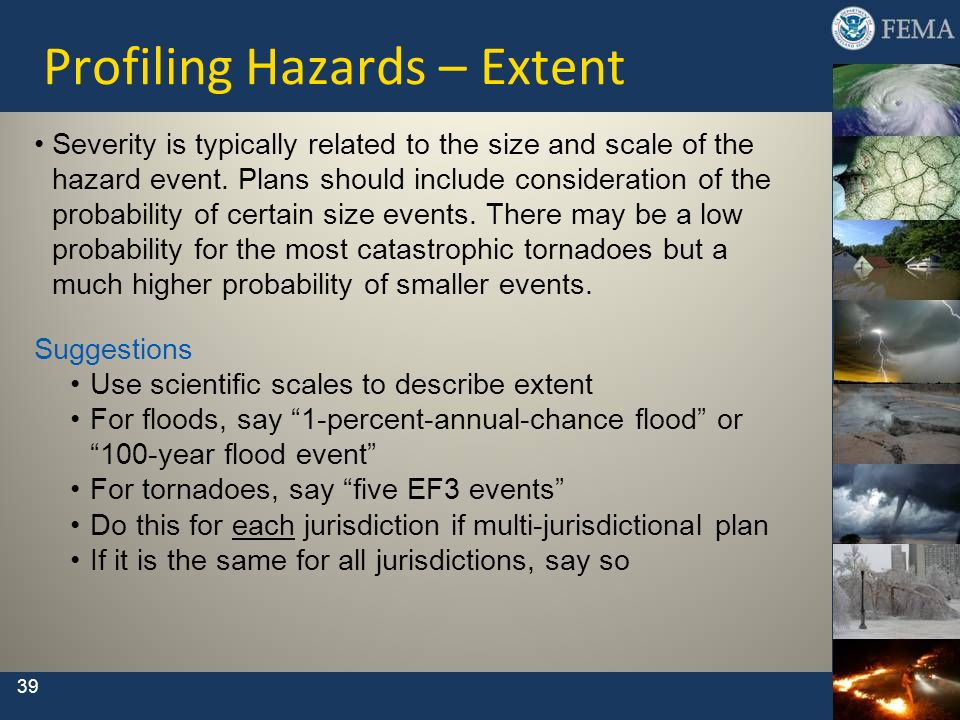 Profiling Hazards – Extent