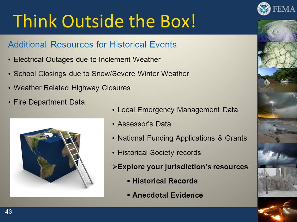 Think Outside the Box! Additional Resources for Historical Events