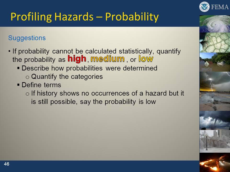 Profiling Hazards – Probability