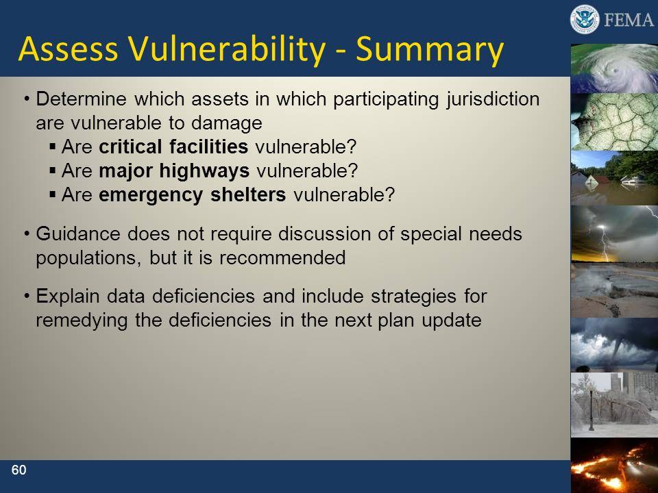 Assess Vulnerability - Summary