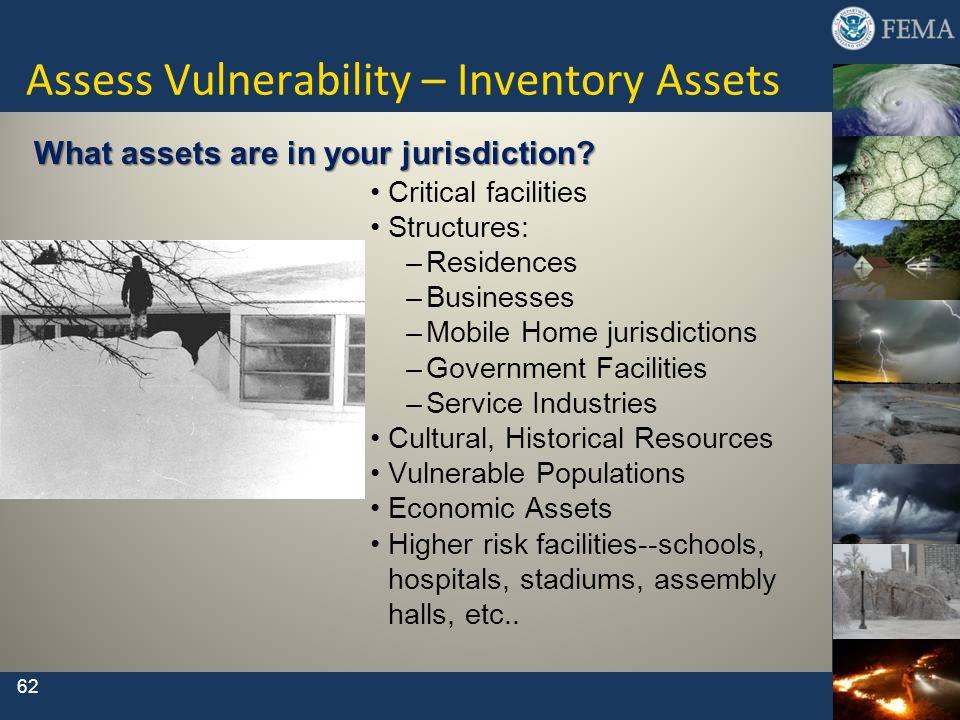 Assess Vulnerability – Inventory Assets