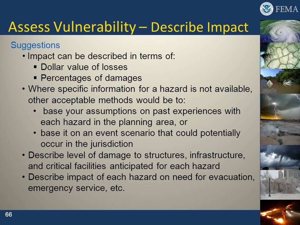 Assess Vulnerability – Describe Impact