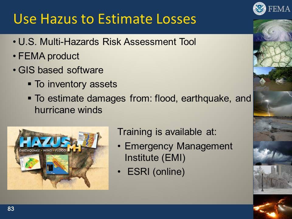 Use Hazus to Estimate Losses