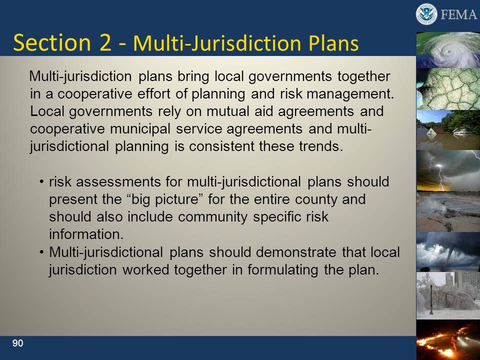 Section 2 - Multi-Jurisdiction Plans