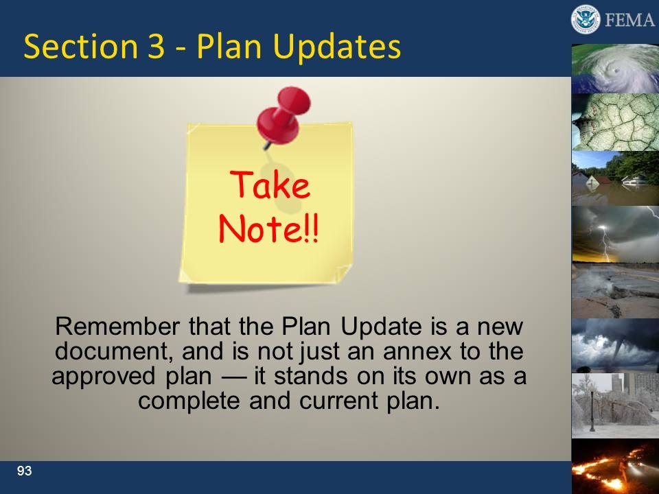 Section 3 - Plan Updates Take Note!!