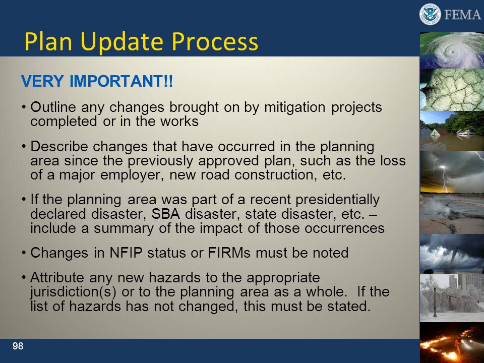 Plan Update Process VERY IMPORTANT!!