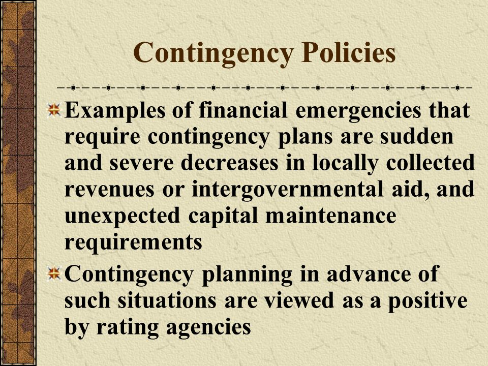 Contingency Policies