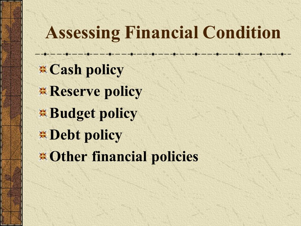 Assessing Financial Condition