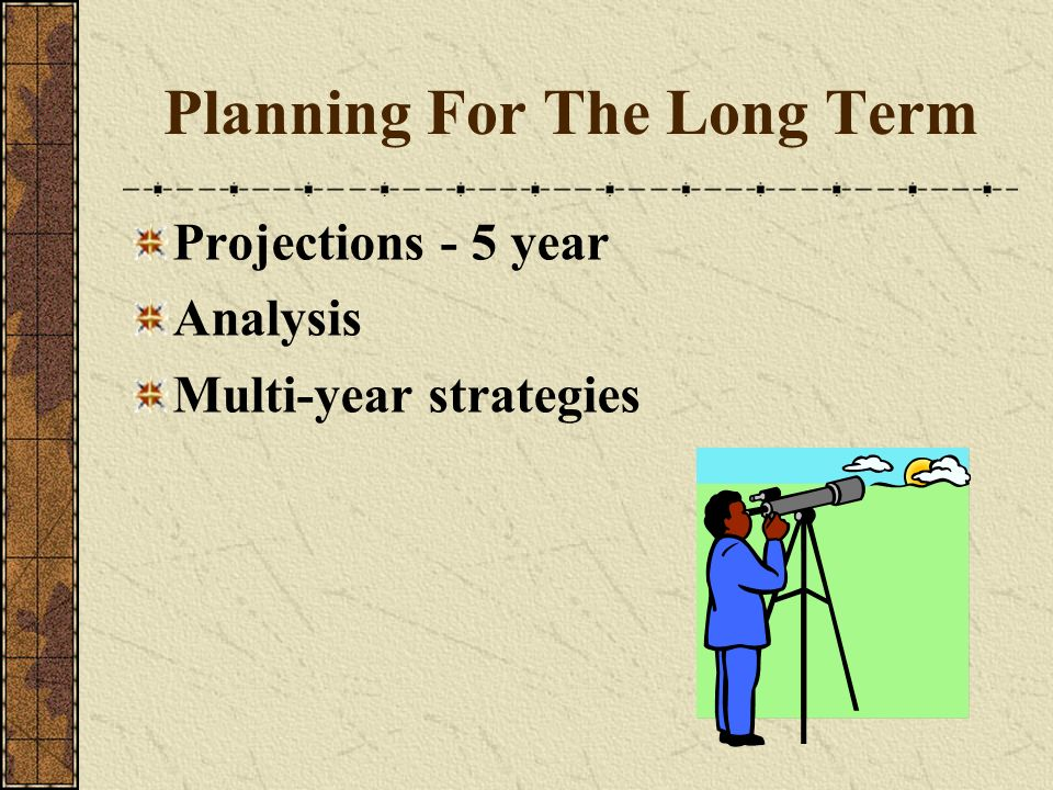 Planning For The Long Term