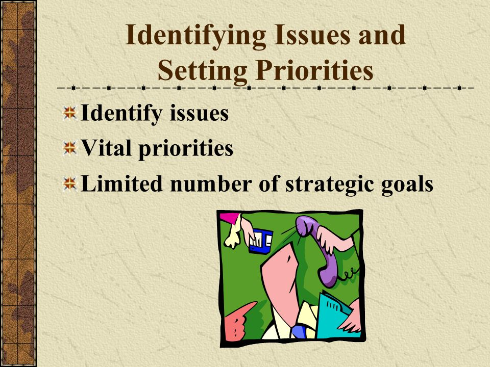 Identifying Issues and Setting Priorities