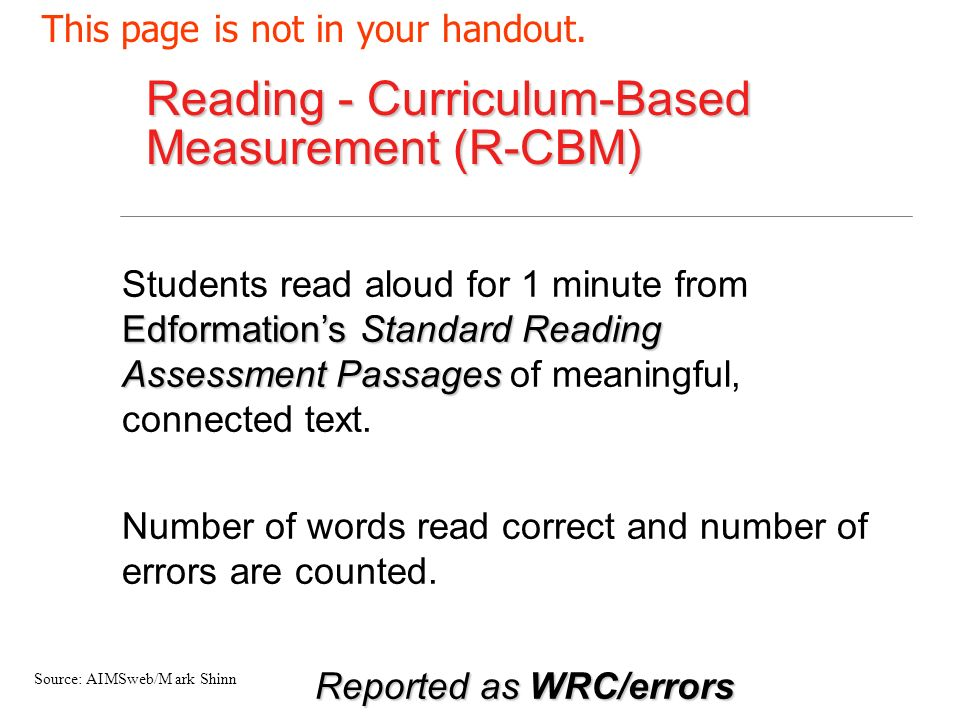 Reported as WRC/errors